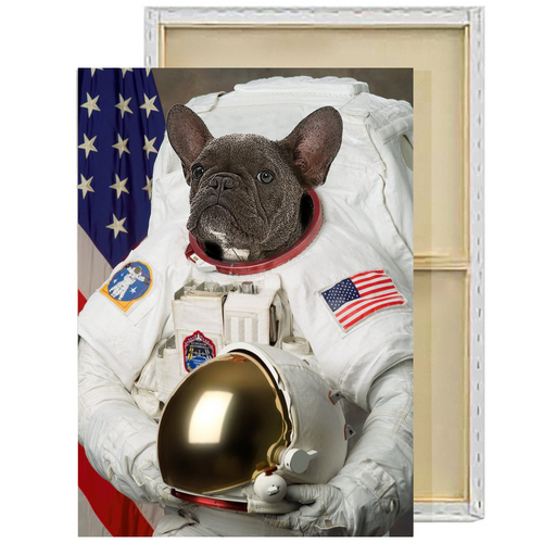 Astronaut Custom Pet Portrait Framed Canvas