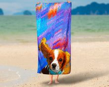 Load image into Gallery viewer, Custom Pet Pop Art Beach Towel Featuring Your Pet