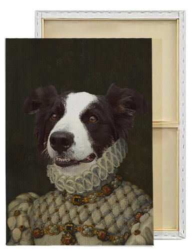 The Princess | Custom Renaissance Pet Portrait Framed Canvas Painting