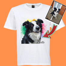 Load image into Gallery viewer, Custom Ladies T-Shirt Featuring Your Pet