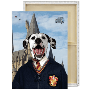 Harry Potter Gryffindor Custom Pet Portrait Framed Canvas