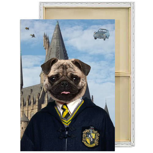 Harry Potter Hufflepuff Custom Pet Portrait Framed Canvas