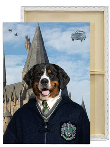Harry Potter Slytherin Custom Pet Portrait Framed Canvas