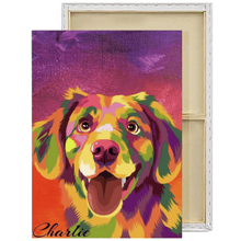Load image into Gallery viewer, POP ART Vector | Custom Pet Portrait Framed Canvas Painting