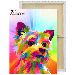 POP ART Vector | Custom Pet Portrait Framed Canvas Painting