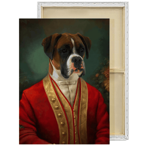 The Aristocrat | Custom Renaissance Pet Portrait Framed Canvas Painting