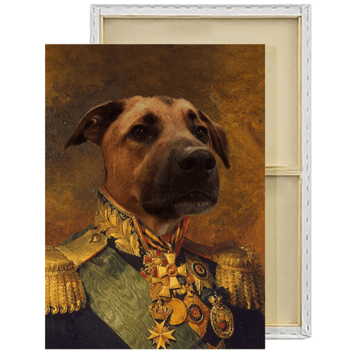 The Colonel | Custom Renaissance Pet Portrait Framed Canvas Painting