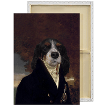 Load image into Gallery viewer, The Count | Custom Renaissance Pet Portrait Framed Canvas Painting
