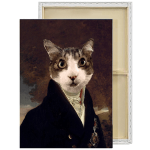 The Count | Custom Renaissance Pet Portrait Framed Canvas Painting
