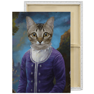 The Dame | Custom Historical Pet Portrait Framed Canvas Painting