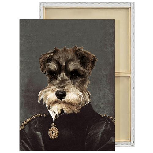 The Dutchess | Custom Renaissance Pet Portrait Framed Canvas Painting
