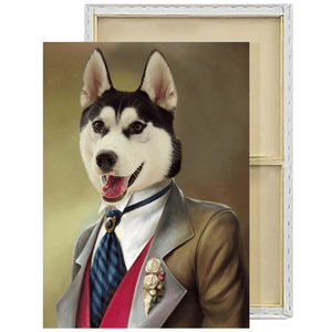 The Gent | Custom Historical Pet Portrait Framed Canvas Painting