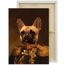 Load image into Gallery viewer, The Veteran | Custom Renaissance Pet Portrait Framed Canvas Painting