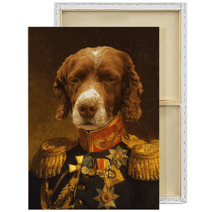The Veteran | Custom Renaissance Pet Portrait Framed Canvas Painting