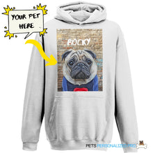 Load image into Gallery viewer, Custom Kids Hoodie Featuring Your Pet (3-14 years)