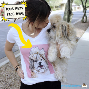 Custom Woman's V-neck T-Shirt Featuring Your Pet