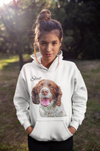 Load image into Gallery viewer, Custom Ladies Hoodie Featuring Your Pet