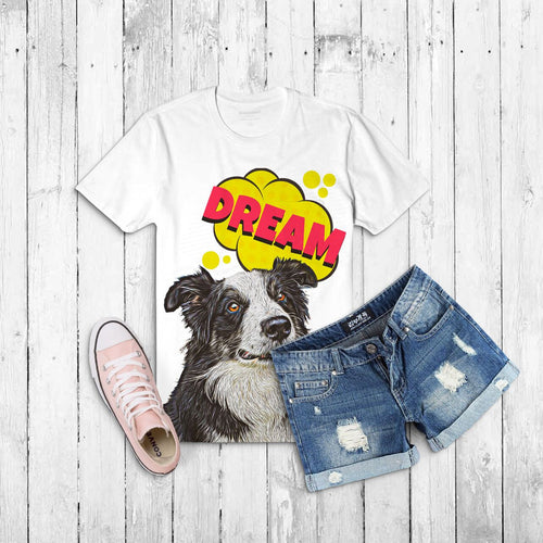 Custom Ladies T-Shirt Featuring Your Pet