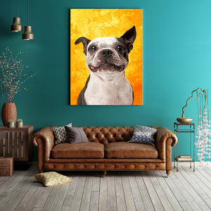 Custom Canvas Wall Art Featuring Your Pet (Framed Ready To Hang)