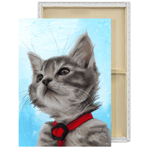 Custom Painted Pet Portrait Framed Canvas