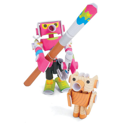 PIPEROID characters: Andy & Pino - paper craft robot kit (2-in-1 package)