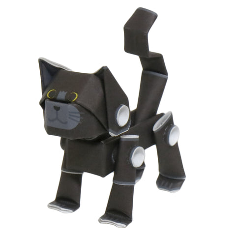 PIPEROID animals - Cat Series: Black Cat - paper craft kit from Japan