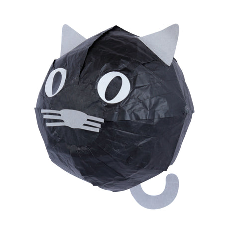 Kamifusen - Black Cat Washi Paper Balloon