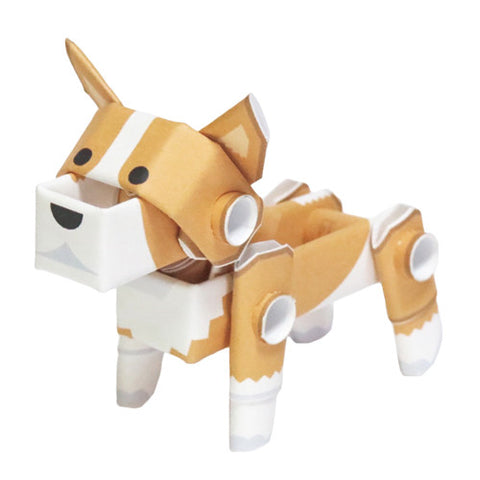 PIPEROID animals - Dog Series: Corgi - paper craft kit from Japan