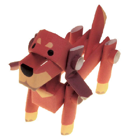 PIPEROID animals - Dog Series: Dachshund - paper craft kit from Japan
