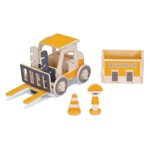 PLAY-DECO Work Vehicles - Fork Lift Note Holder & Container