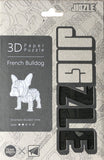 JIGZLE 3D Paper Puzzle: French Bulldog - Laser Cut Miniature Animals