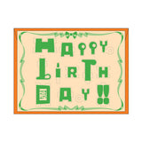 PLAY-DECO Greeting - Happy Birthday (green)