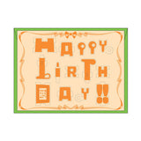 PLAY-DECO Greeting - Happy Birthday (orange)