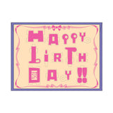 PLAY-DECO Greeting - Happy Birthday (pink)