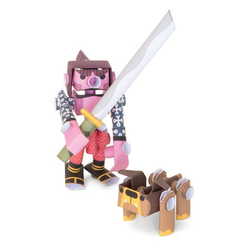 PIPEROID characters: Kojiro & Butcher - paper craft robot kit (2-in-1 package)