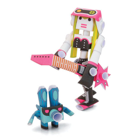 PIPEROID characters: Linda & Doby - paper craft robot kit (2-in-1 package)