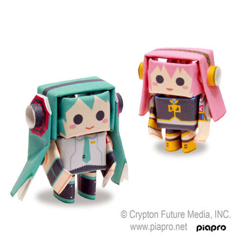 PIPEROID Hatsune Miku series: Miku & Luka - paper craft robot kit (2-in-1 package)