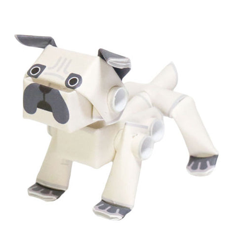 PIPEROID animals - Dog Series: Pug - paper craft kit from Japan