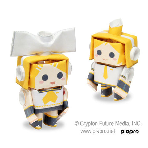 PIPEROID Hatsune Miku series: Rin & Len - paper craft robot kit (2-in-1 package)