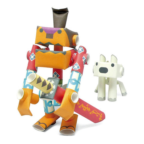 PIPEROID characters: Rokusuke & Hachi - paper craft robot kit (2-in-1 package)