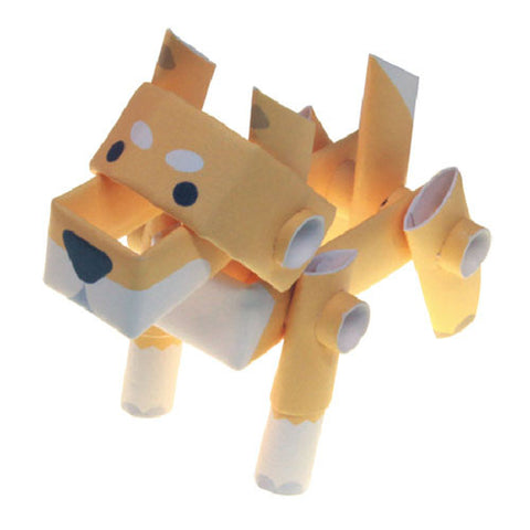 PIPEROID animals - Dog Series:  Shiba Inu - paper craft kit from Japan