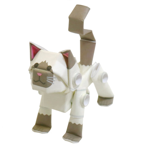 PIPEROID animals -  Cat Series: Siamese - paper craft kit from Japan