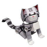 PIPEROID animals - Silver Tabby