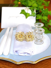 Load image into Gallery viewer, Gold Floral Napkin Ring