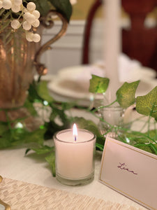 Gold-lined White Place Cards