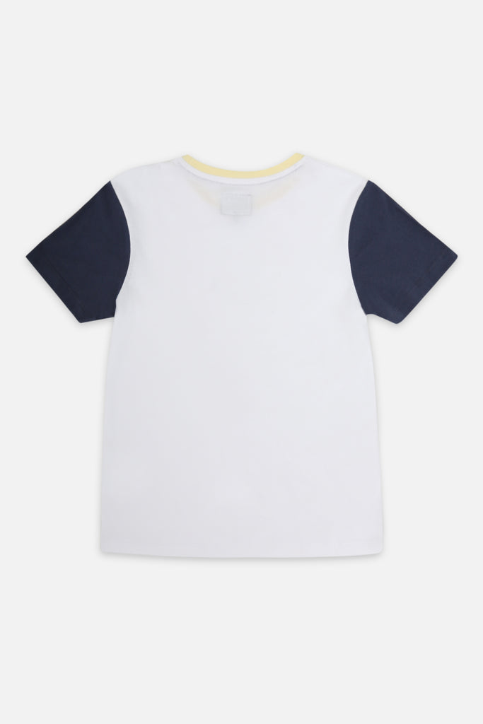 Roler Colour Block Tee - White
