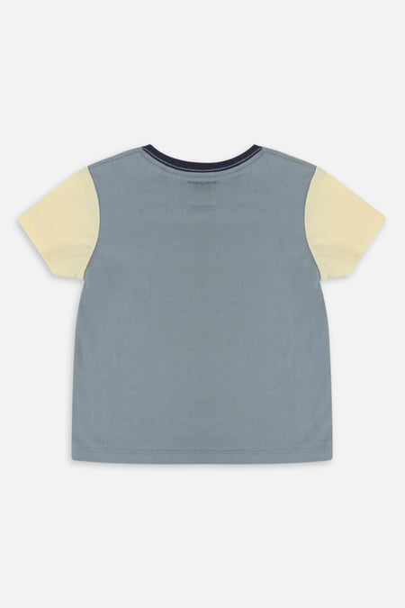 Indie Colour Block Tee - Green