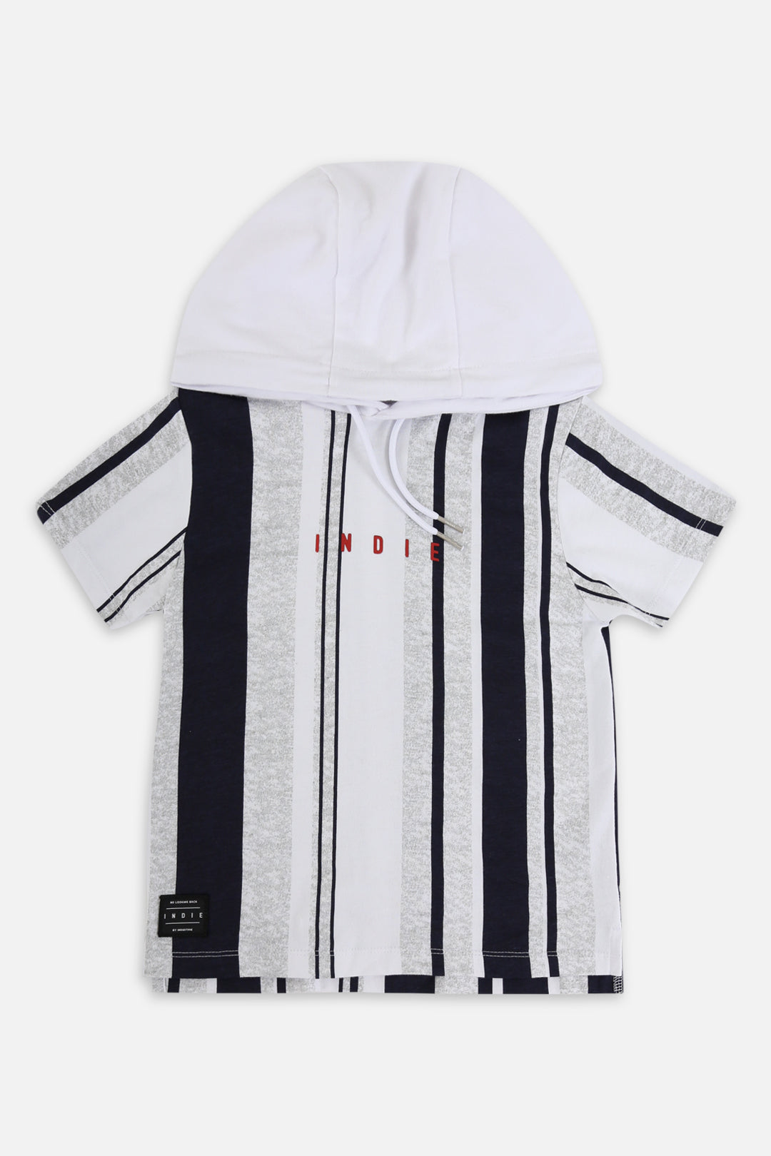 Vertical Ss Hoodie - White
