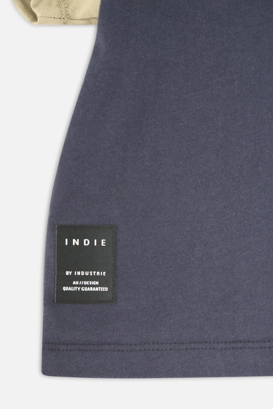 Indie Colour Block Tee - Navy