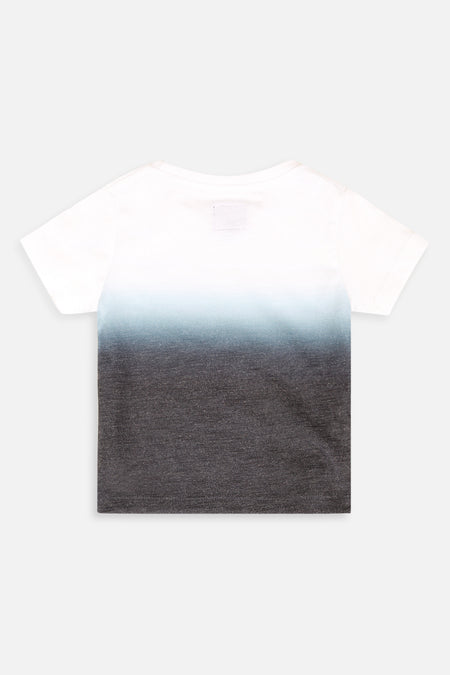 Dip Side Print Tee - Navy
